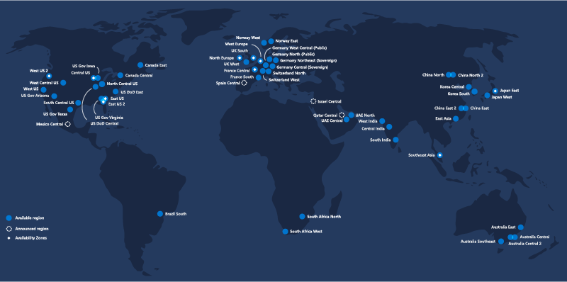 Data Centers Map